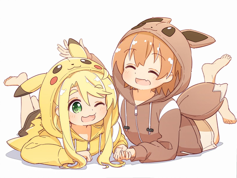 yande.re 552342 sample crossover himesaka_noa hoshino_hinata manse pajama pokemon watashi_ni_tenshi_ga_maiorita!.jpg